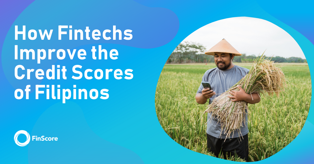 FinScore.PH How Fintechs Improve Credit Scores of Filipinos Filipino Rice Farmer Smiling while using Smartphone