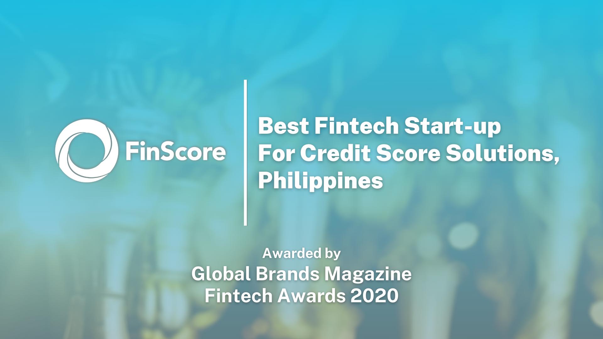 Global Brands Magazine Awards FinScore as Best Fintech Start-up for Credit Score Philippines